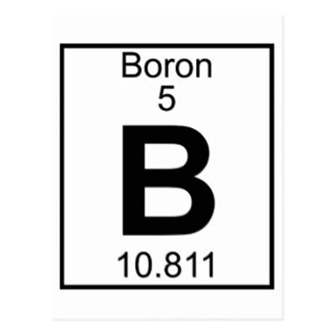 Boron Periodic Table by Boron Postcards Zazzle