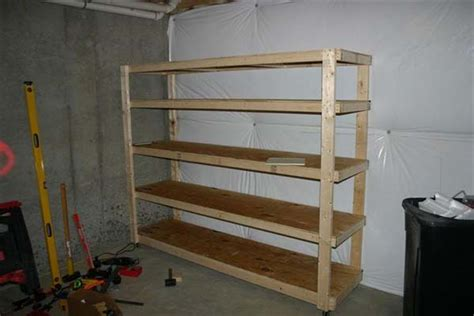 build wooden storage shelves basement woodworking