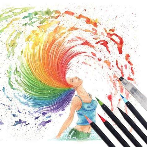 Watercolor Brush Pen Set watercolor brush pens 20 set sugar cotton