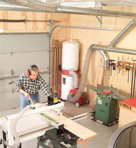 central dust collection workshop ideas woodworking