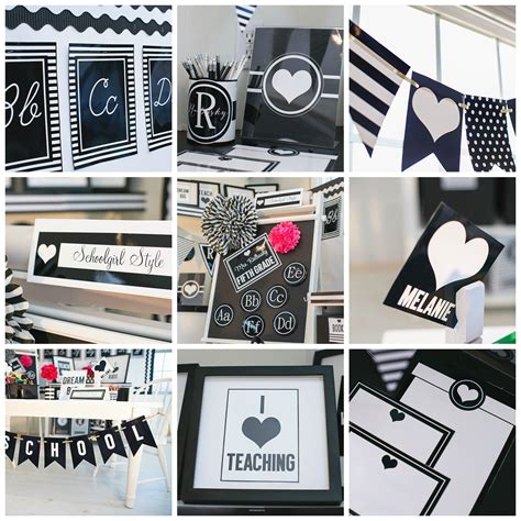 black and white themes and decor i school inspiration boards schoolgirlstyle