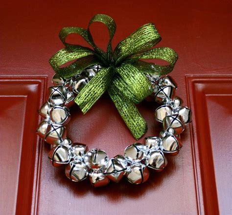 small silver jingle bell wreath christmas pinterest