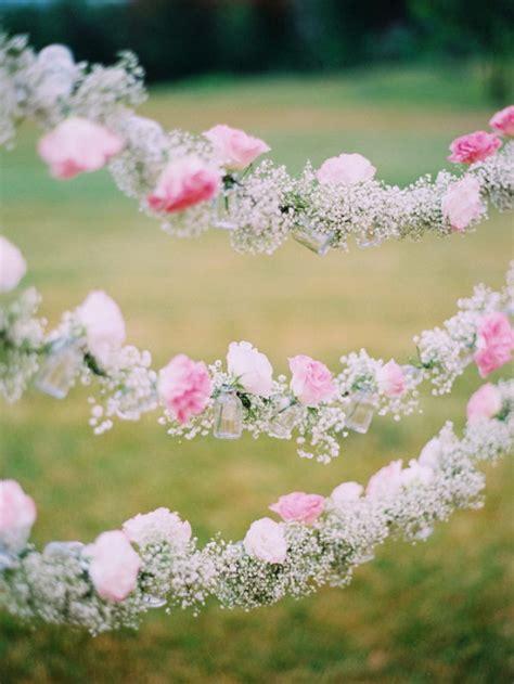 flower wedding garland 50 budget friendly rustic real wedding ideas hative