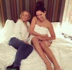 Miley Cyrus Bedroom kelly brook in bed in just a towel after reconciling with