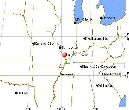 grand il map grand tower illinois il 62942 profile population maps