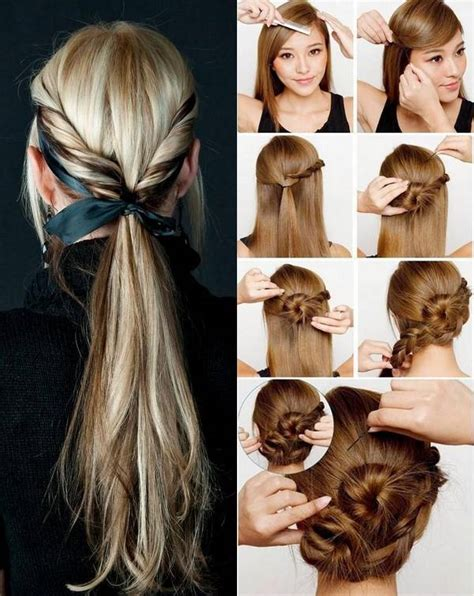 how to do easy hairstyles for step by step simple hairstyles step by step for girls hairstyles