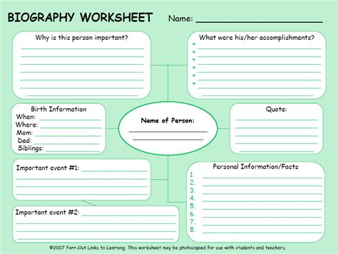 biography facts template biograf 237 as biographies social studies biography
