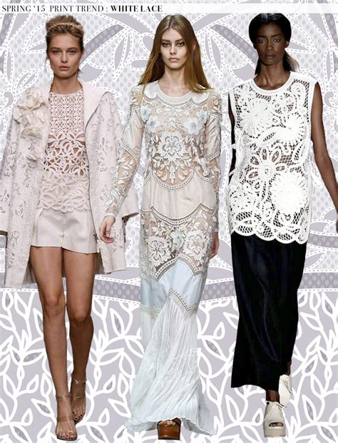 resort 2015 fashion trend black and white lace dior erdem spring 2015 runway trends white lace aaryn west