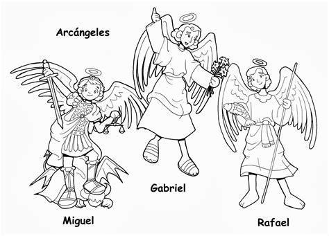 dibujos de la biblia angeles para colorear imagenes 2015 dibujos para catequesis santos arc 193 ngeles miguel gabriel