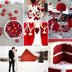Red white wedding inspiration linentablecloth