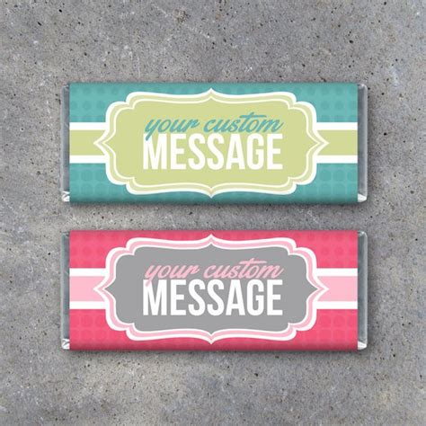 Personalized Candy Bar Wrappers Printable Wrappers Featuring Personalized Wrapper Template Free