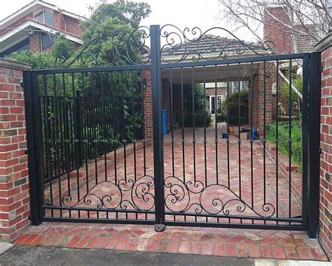 swinging gates melbourne residential swing gates melbourne australiana gates and