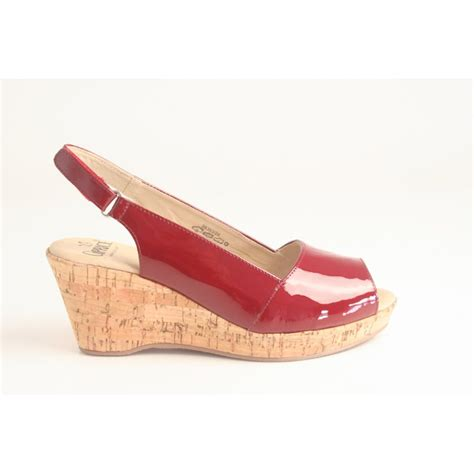 Peep Toe Wedges caprice caprice patent leather wedge with peep toe