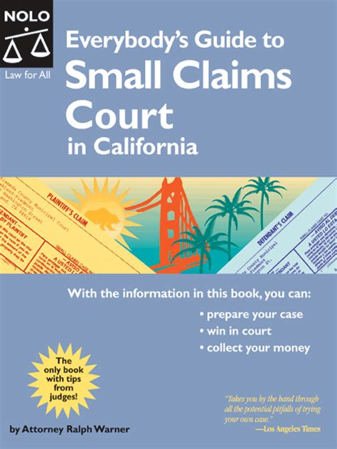 Los Angeles Small Claims Court Search Everybody S Guide To Small Claims Court In California County Of Los Angeles