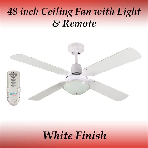 Ceiling Fan Winter Mode by Fias Ramo White 4 Blade Ceiling Fan With Light And Remote Ebay