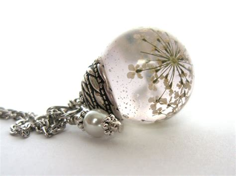 resin flowers for jewelry beautiful s lace resin pendant necklace sphere