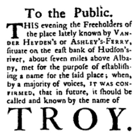 how did new year get its name history of troy new york