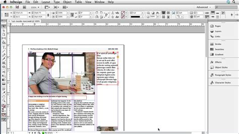tutorial de indesign cs6 indesign cs6 new features