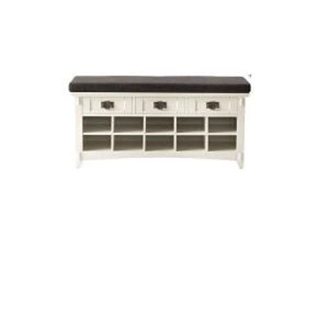 shoe storage home depot home decorators collection artisan white 3 drawer bench
