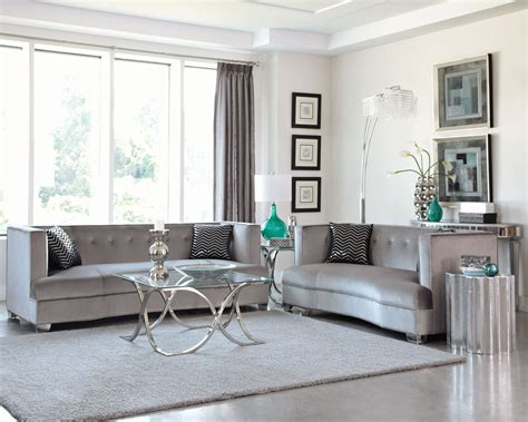 Silver Living Room Furniture Caldwell Silver Living Room Set From Coaster 505881 Coleman Furniture