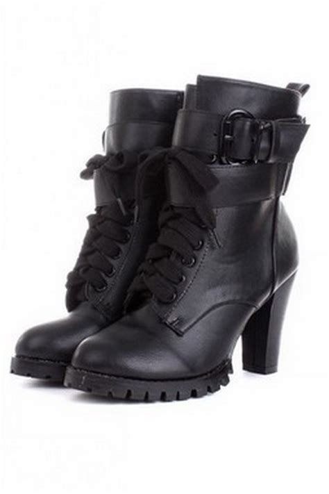 high heeled army boots high heel combat boots