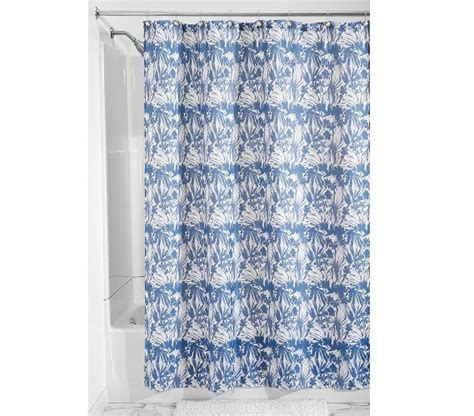 blue floral shower curtain floral batik fabric shower curtain blue supplies for