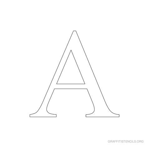Printable Roman Alphabet | times new roman printable stencils graffiti stencils org