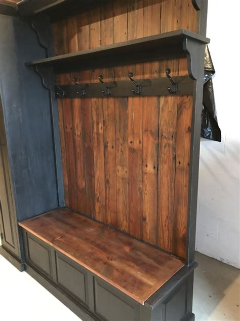 large attractive hall tree  side storage cabinet