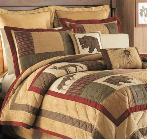 Cabin Bedding Set Big Sky Moose Deer Quilt By C F