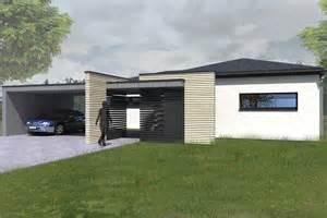 maison ossature bois plain pied