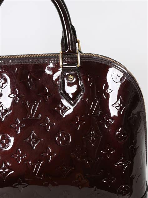 alma pm monogram vernis leather louis vuitton alma pm monogram vernis leather amarante