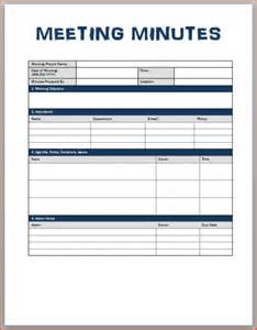 pin templates for writing minutes on