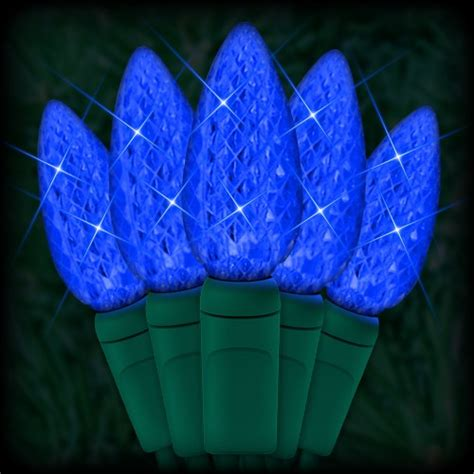 led blue christmas lights 35 c6 led strawberry style bulbs