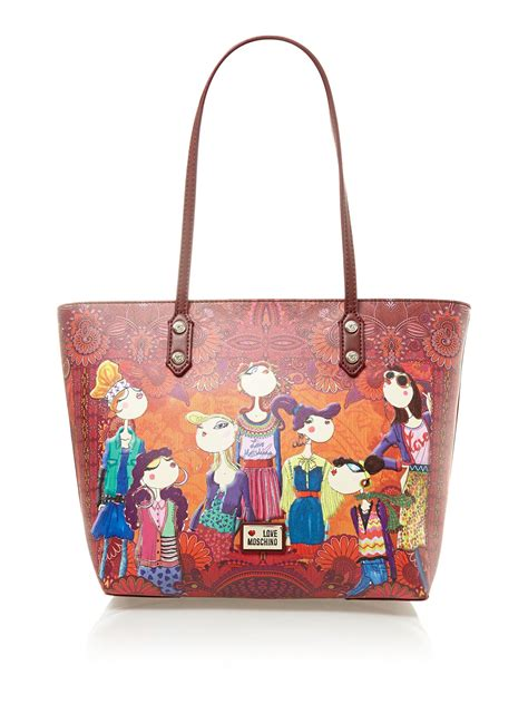 Moschino Bag moschino charming print large tote bag lyst