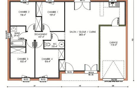 plan de maison avec 4 chambres plan et photos maison 4 chambres de 87 m 178