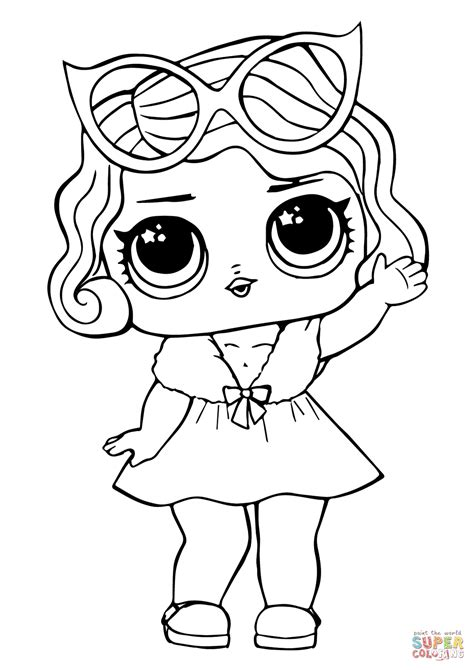 baby coloring pages lol doll leading baby coloring page free printable