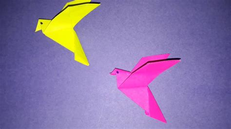 Flapping Bird Origami - paper bird origami flapping bird pigeon easy 5 minutes