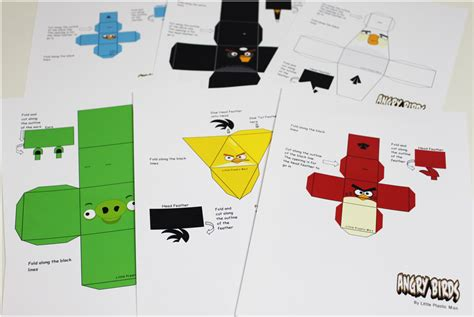 Angry Birds Papercraft - paper crafts angry bird transformers