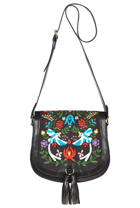 Embroidered Bag louche luxe willow embroidered leather bag