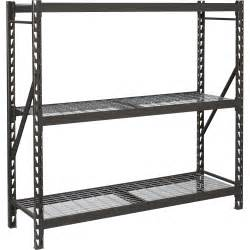 industrial steel shelving edsal industrial storage rack 72in w x 24in d x 72in h 3 shelf model 7224prbwwd3