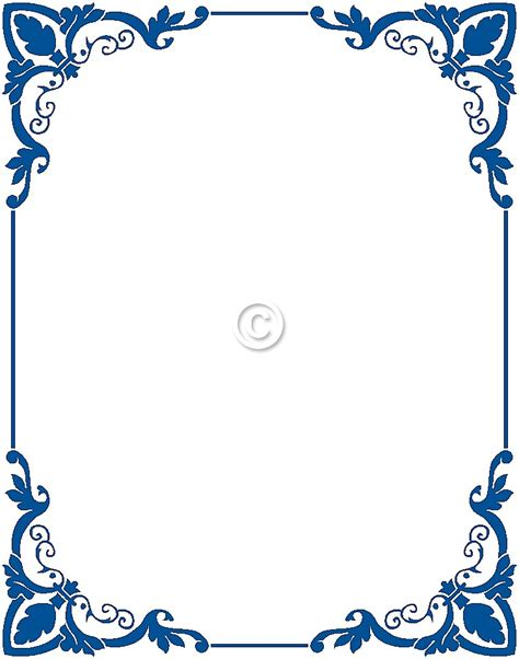 Wedding Border And Frames by Blue Flower Clipart Blue Wedding Border Pencil And In