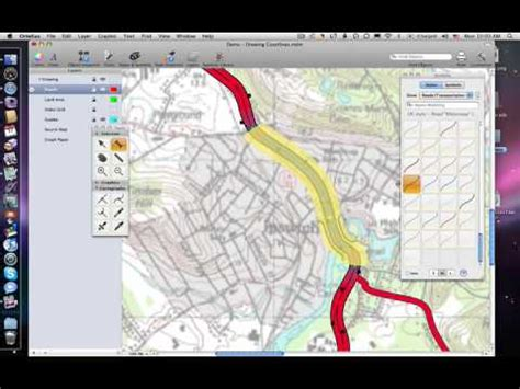 software for map drawing drawing road and junctions with ortelius map