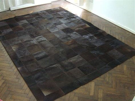 patchwork cowhide leather rugs new cowhide patchwork rug leather carpet cu 444 ebay