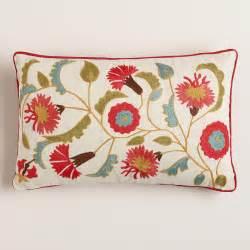 suzani embroidered lumbar pillow world market