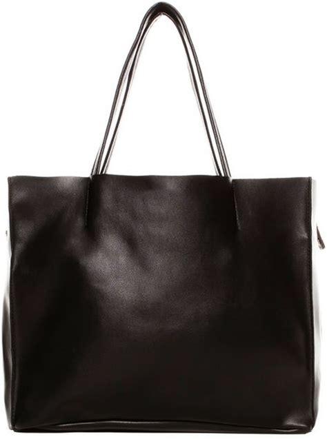 Pullbear Bag pull shopper bag in black lyst