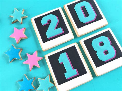 new year cookies 2018 2018 new years photo sugar cookies tinselbox
