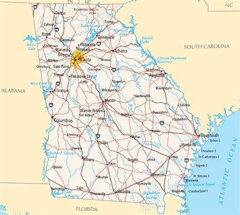 map of georgia cities cities in georgia usa maps of georgia cities
