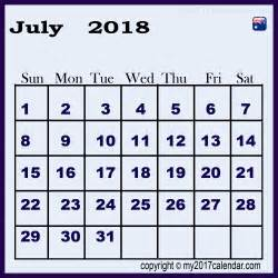 2018 Calendar Australia Save 2018 Calendar July Australia Printable Monthly