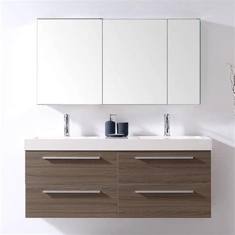 54 bathroom vanity double sink 54 inch double sink floating bathroom vanity grey oak