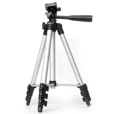 Tripod Stand 4 Section Aluminum Brown new 4 sections adjustable rubber camcorder